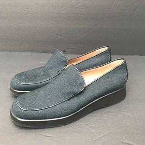 New Ferragamo Denim Comfort Loafers 8.5 2A vintage